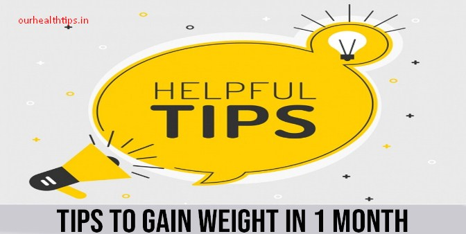 How to Gain Weight in 1 Month