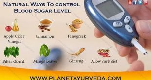 Natural ways to Control blood sugar level