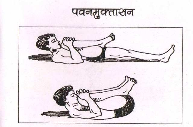 Pawanmuktasana in Hindi