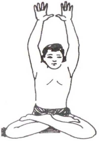 Parvatasana Steps in hindi