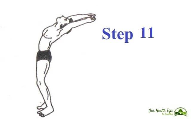 Surya Namaskar Step 11 in hindi