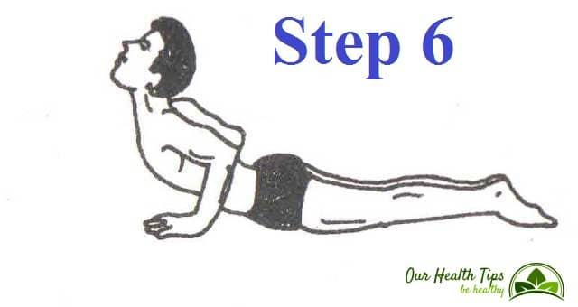Surya Namaskar Step 6 in hindi