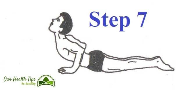 Surya Namaskar Step 7 in hindi