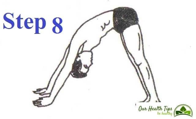 Surya Namaskar Step 8 in hindi