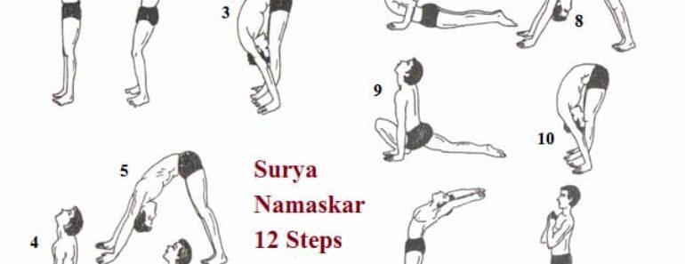 Surya Namaskar 12 Steps