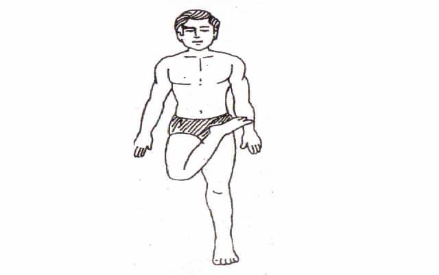 vatayanasana steps in hindi
