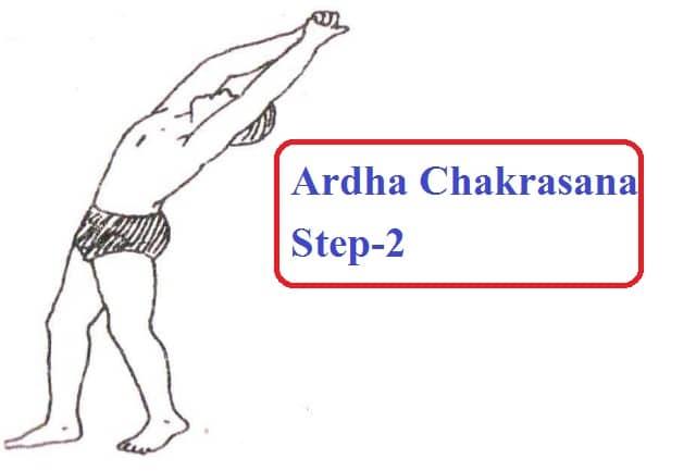Ardha Chakrasana step 2