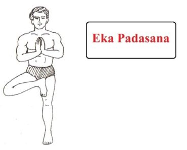 Eka Padasana in Hindi