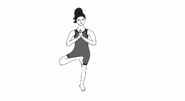 Eka Padasana or One Foot Pose Steps