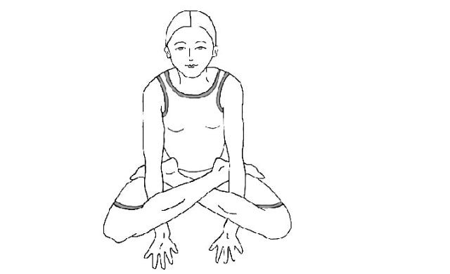 Kukkutasana Steps in Hindi