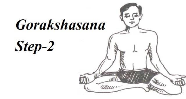 Gorakshasana step 2