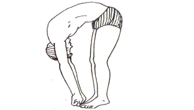 Padahastasana steps in hindi